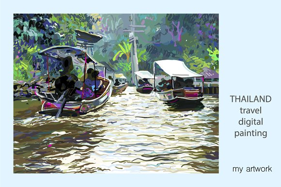IPAD PAINTING OF THAILAND LANDSCAPE