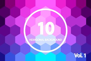 10 Hexagonal Backgrounds