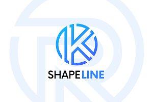 K letter linear logo icon emblem