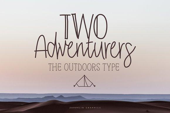 Two Adventurers Font Bonus