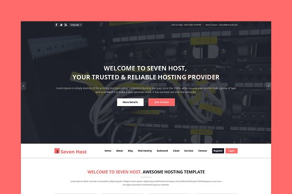 Seven Host Hosting PSD Template