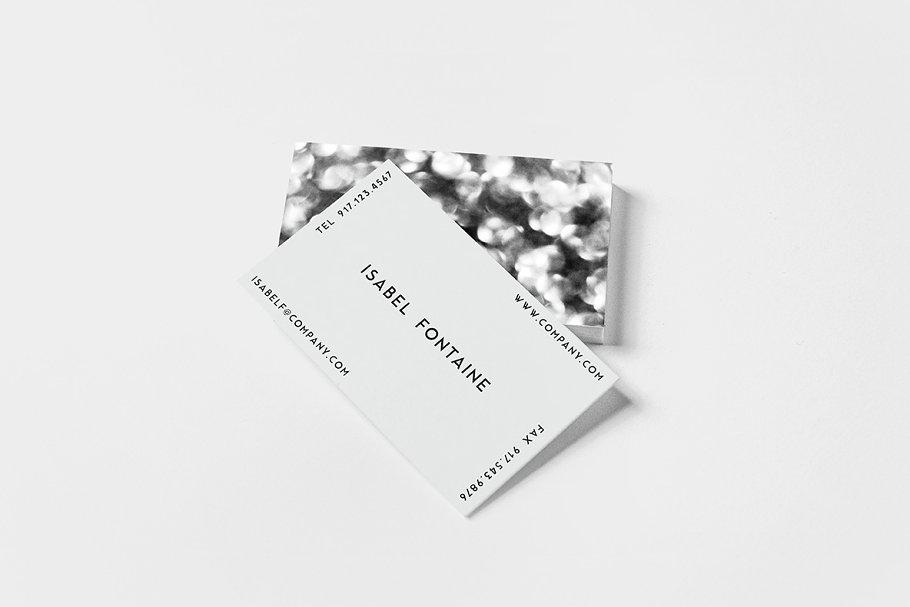 Bokeh Noir Business Card