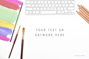 Artist Mockup Styled Stock Photo
