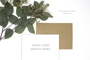Card Mockup Styled Stock Photo