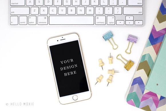 IPhone Mockup Styled Stock Photo