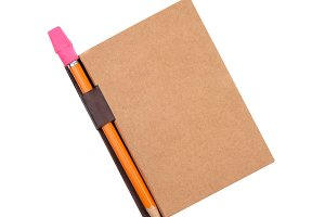 Closed pad with pencil