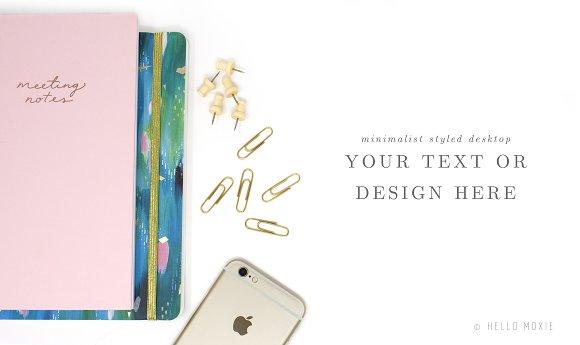 Styled Desktop Stock Photo