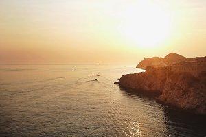Croatian Cliffs in the Sunset