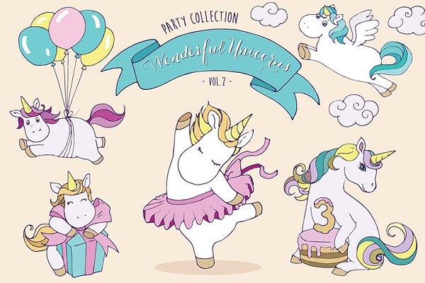 Unicorns vol.2 - Party set
