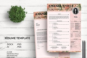 Flamingo CV / Resume Template / N