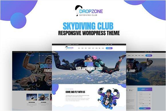 Dropzone Skydiving WordPress Theme