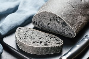 loaf of charcoal bread black bread