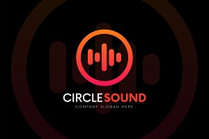 CIRCLE SOUND - Sound logo music icon