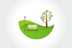 Minimal Park. Natural landscape