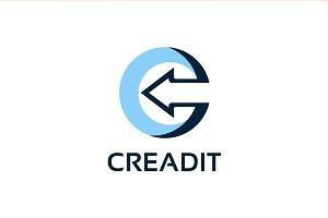 CREADIT - C letter company logo icon