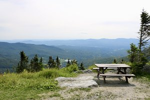 Picnic Table on Mountaintop
