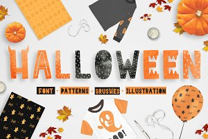 Ha-Halloween font + patterns + MORE!