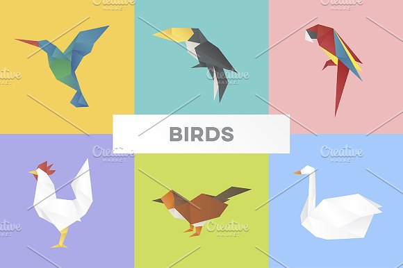 Vectors Of Various Birds
