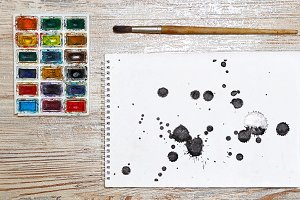 10 JPG Abstract black ink splash