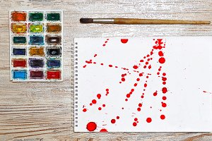 10 JPG Abstract red ink splash