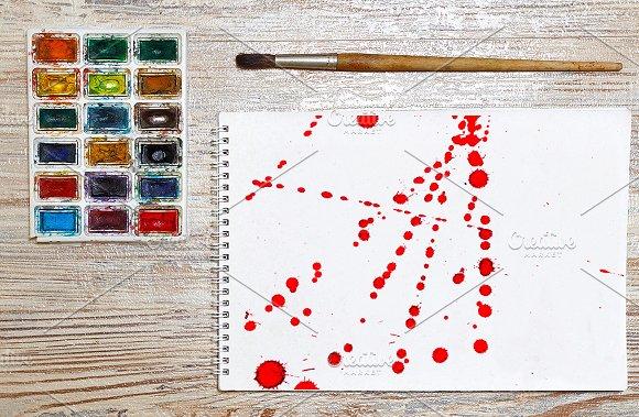 10 JPG Abstract Red Ink Splash