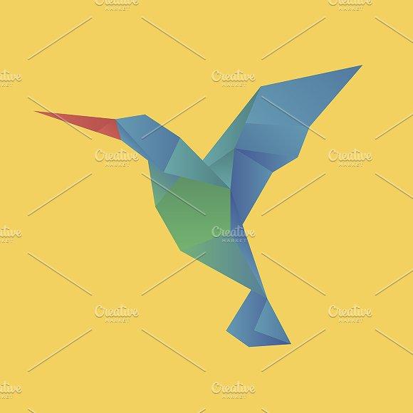 Vector Of A Bird Origami