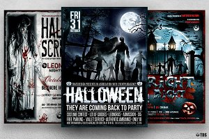 Halloween Flyer Bundle V6