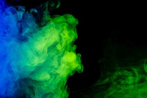 5 JPG Abstract blue and green smoke