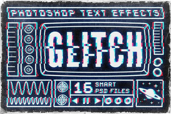 Photoshop Layer Styles - Glitch text effects for Photoshop