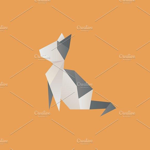 Vector Of A Cat Origami