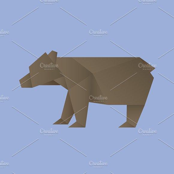 Vector of a Bear origami