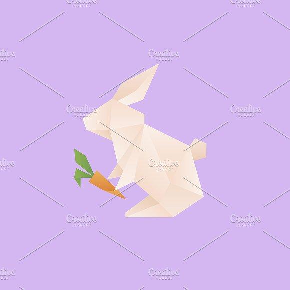 Vector of a Rabbit origami