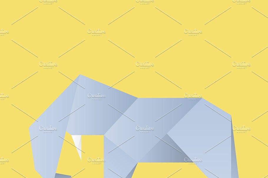 Vector of an Elephant origami