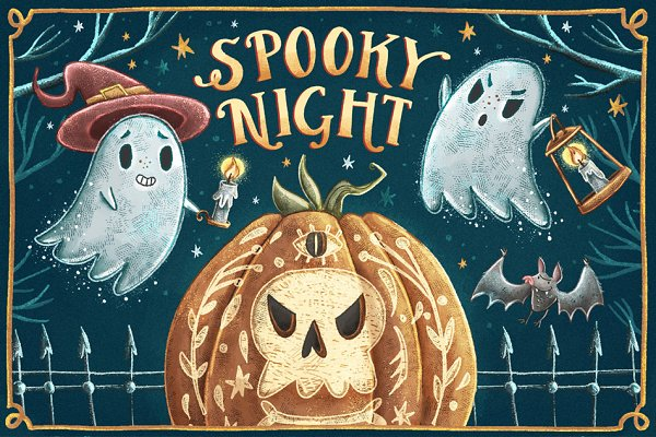Spooky Night • Halloween set