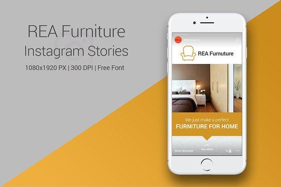 REA Furniture Instagram Stories