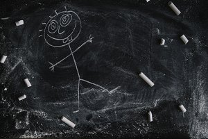 cartoon in the backboard
