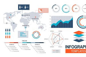 Vector of infographic templates