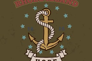 Anchor with rope and hope