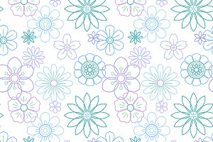 Vector of beautiful flowers