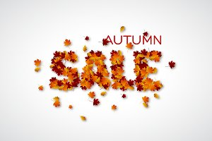 Autumn leaves letters sale.