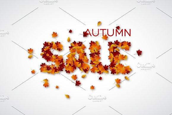 Autumn Leaves Letters Sale