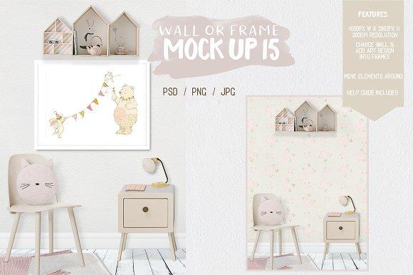 Kids Room Wall Frame Mock Up 15