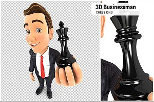 3D Businessman Chess King