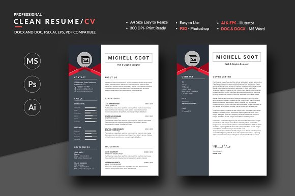 Medical Resume Sample Pdf Resume  Resume Templates  Creative Market Bank Branch Manager Resume Word with Apartment Maintenance Resume Excel Resume  Resumes Download Word Resume Template Excel