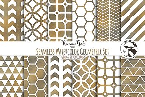 Seamless Watercolor Geometrics GS