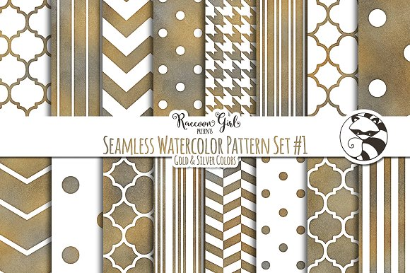 Seamless Watercolor Patterns #1 GS