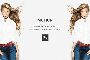 Motion - Clothing PSD Template