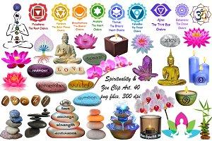 Spirituality & Zen Clip Art(Chakras)