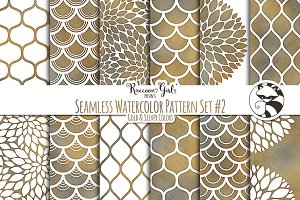 Seamless Watercolor Patterns #2 GS