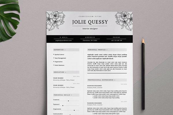 Feminine Resume Template / Jolié